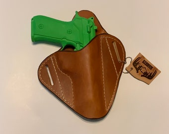 OWB 92f, Cc 75, P220, P226, Handmade Herman Oak leather holster pistol holster