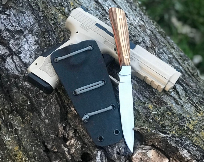 Handmade Knife Skinner Knife Hunting Knife Skinning Knife With Kydex Sheath edc knife everyday carry knife