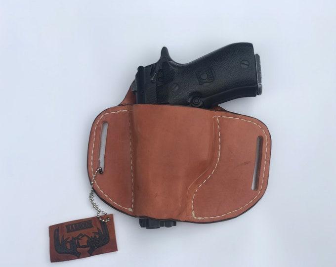 OWB Rh or lh Handmade leather holster medium OWB pistol holster