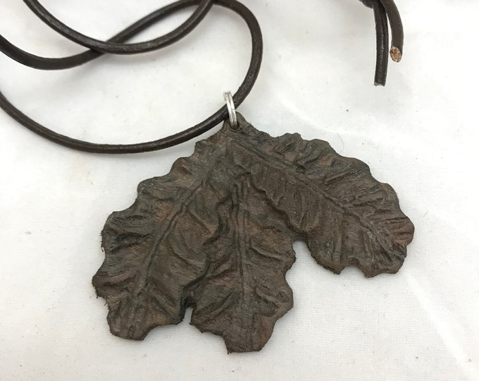 Hand Carved Leaves Pendant Necklace