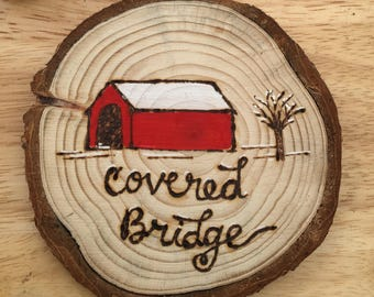 Personalized Covered Bridge Ornament