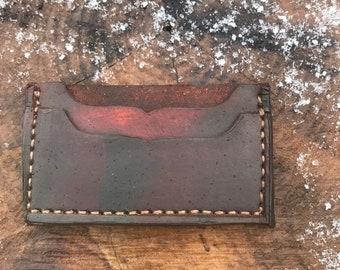 Two Sided Handmade Wallet Bill Fold EDC Front Pocket Wallet Billfold