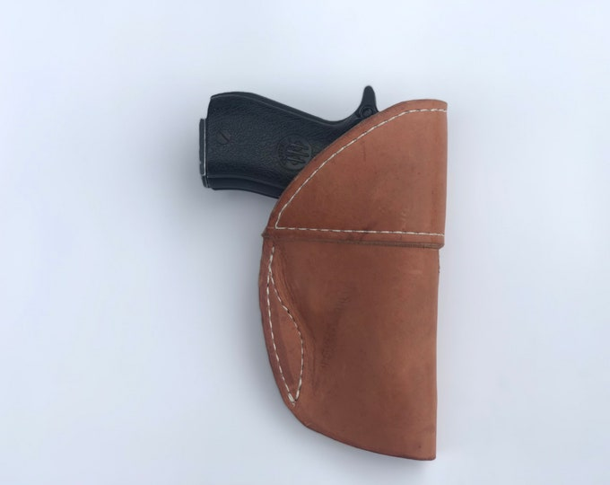IWB LH Handmade leather holster medium or large pistol holster