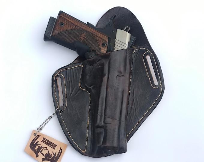 OWB 1911 Handmade leather holster 1911 pistol holster 1911