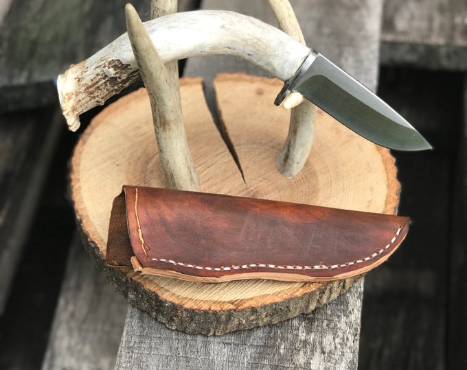 Handmade Knife Skinner Whitetail Deer Antler Knife Hunting Knife Skinning Knife With Sheath