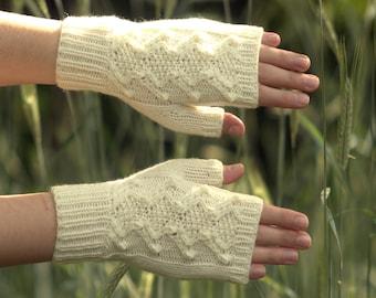 Fingerless gloves Knit hand warmers