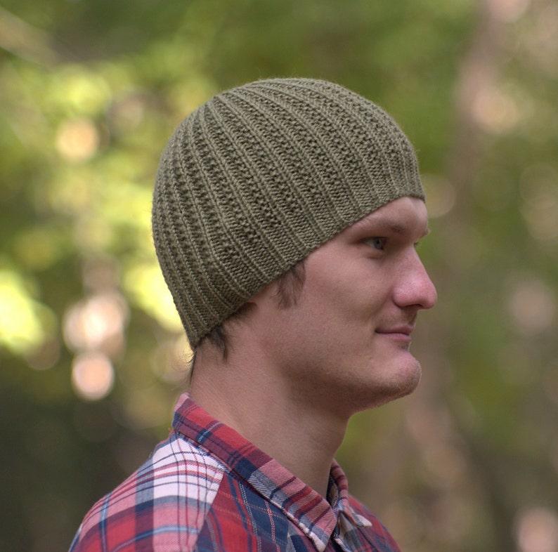 Olive green hat Men knit hat Winter hat for man Running hat Khaki hat Gray green hat Running beanie Wool men hat Warm men hat Sport men hat