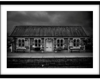 Settle Train Station  -   Photograph is printed in 308gsm Hahnemuhle fine art paper (Unmatted)