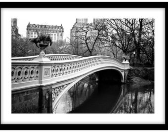 Inside Central Park,  New York  -  Black and White Fine Art Photograph printed on 308gsm Hahnemuhle fine art paper (Unmatted)