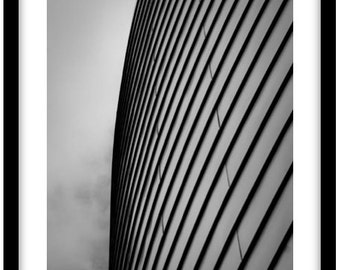 Abstract Black and White Photograph of Manchester Building.  Photograph is printed in 308gsm Hahnemuhle fine art paper (Unmatted)