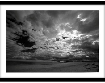 Northumberland Beach,  Black and White Fine Art Photograph printed on 308gsm Hahnemuhle fine art paper (Unmatted)