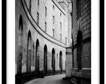 Manchester Central Library and Town Hall.  Photograph is printed in 308gsm Hahnemuhle fine art paper (Unmatted)