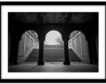 Central Park, New York -  Black and White Fine Art Photograph printed on 308gsm Hahnemuhle fine art paper (Unmatted)
