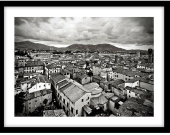 Above Lucca, Tuscany, Italy. Black and White Fine Art Photograph printed on 308gsm Hahnemuhle fine art paper (Unmatted)