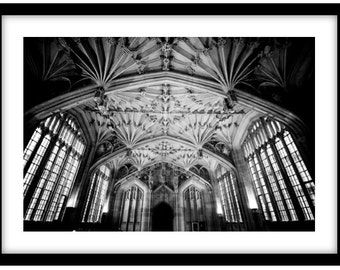 Divinity School, Oxford University  -   Photograph is printed in 308gsm Hahnemuhle fine art paper (Unmatted)