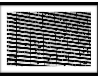 Building in Singapore -Black and White Fine Art Photograph printed on 308gsm Hahnemuhle fine art paper (Unmatted)