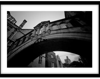 The Bridge of Sighs, Oxford University  -   Photograph is printed in 308gsm Hahnemuhle fine art paper (Unmatted)