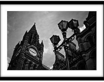 Manchester Town Hall.  Photograph is printed in 308gsm Hahnemuhle fine art paper (Unmatted)