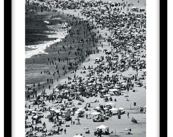 Copacabana Beach, Rio De Janeiro -  Black and White Fine Art Photograph printed on 308gsm Hahnemuhle fine art paper (Unmatted)