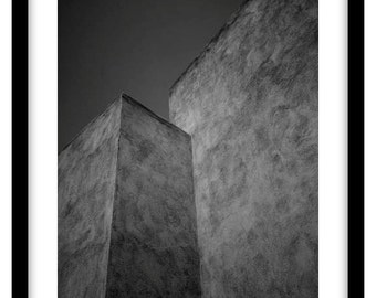 Walls of the old city, Marrakesh, Morocco.  Black and White Fine Art Photograph printed on 308gsm Hahnemuhle fine art paper (Unmatted)