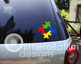 eDesign 2-Pack Autism Mama Bear 4-inch /& Autism Puzzle Sea Turtle 3-inch Vinyl Decal Sticker for Car Truck Van SUV Window Wall Cup Tumblers Laptop