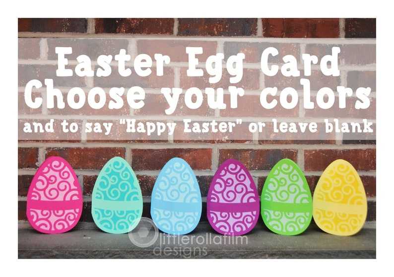 Easter Egg Greeting Card  Happy Easter Choose Your Own image 0