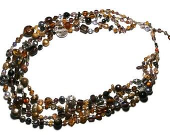 Bohemian style MULTISTRAND necklace