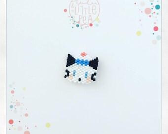 Pine miyuki delica-marine atmosphere - peyote stitch beadwoven sea cat
