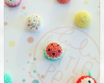LOT DE 3 PINS  confetti tutti fruity a choisir