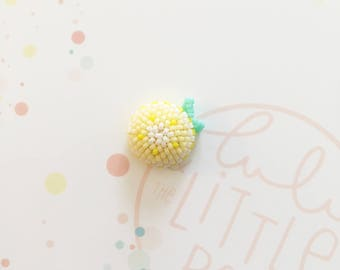 Pins bouton citron- collection confetti