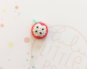 Pins bouton pomme rouge- collection confetti