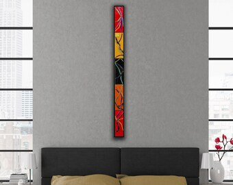 4 FT Home Decor. Abstract Wall Art. Fused Glass Wall Art. Made to Order. Zen Art. Wall Decor. Vertical Wall Art. Horizontal Living Room Art.