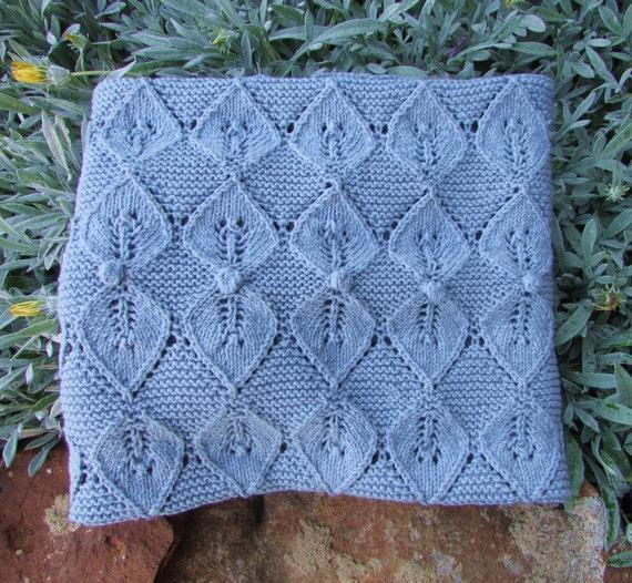 Fairy Leaves Baby Blanket Knitting Pattern Instant Pdf Etsy