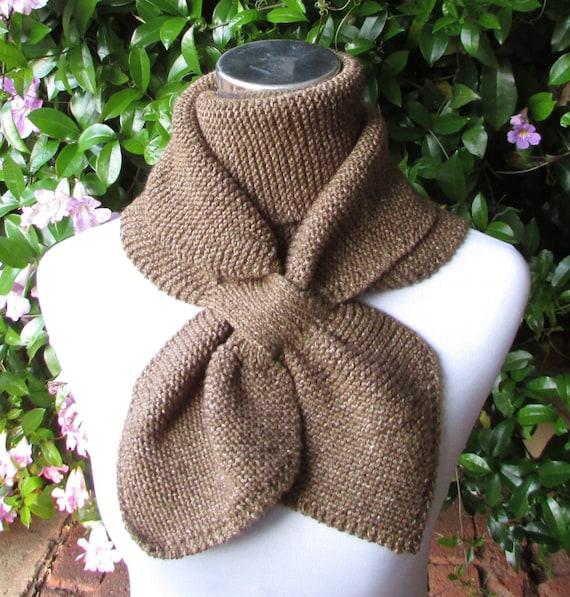 Keyhole Scarf Knitting Pattern Double Loop Keyhole Scarf Etsy