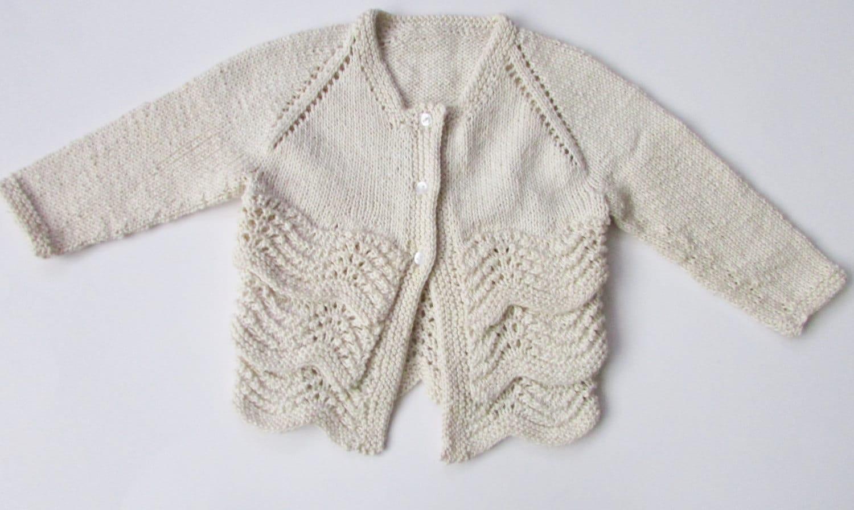 Baby Sommer Strickjacke stricken Muster PDF Muster stricken