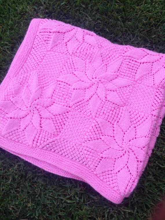 Vintage Style Baby Blanket Knitting Pattern Baby Shower | Etsy