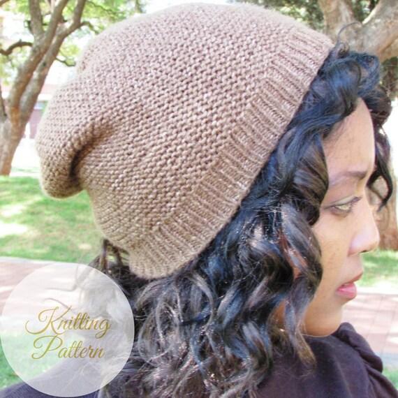 Charlie Slouchy Beanie Knitting Pattern Pdf Winter Hat Etsy