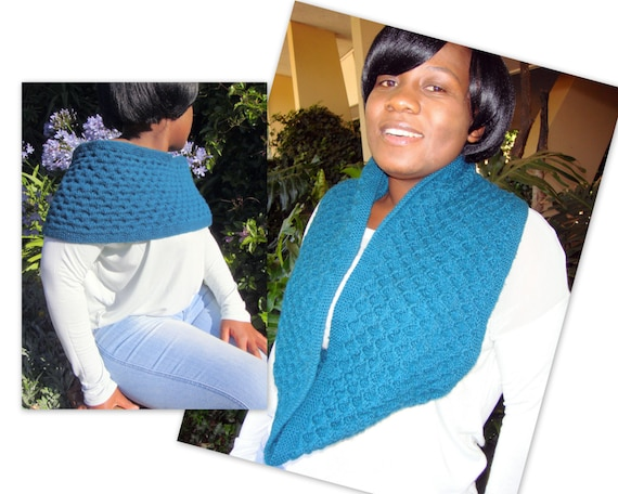 Knitting Pattern Pdf Oh So Reversible Cowl Infinity Scarf Etsy