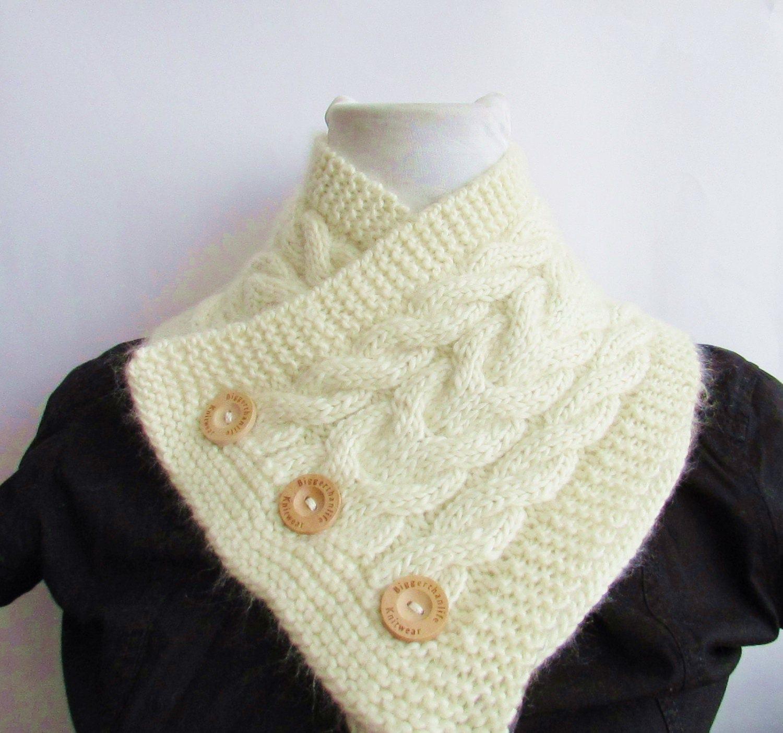 Knitting Pattern PDF Strawberry Cabled Chunky Neckwarmer   Etsy