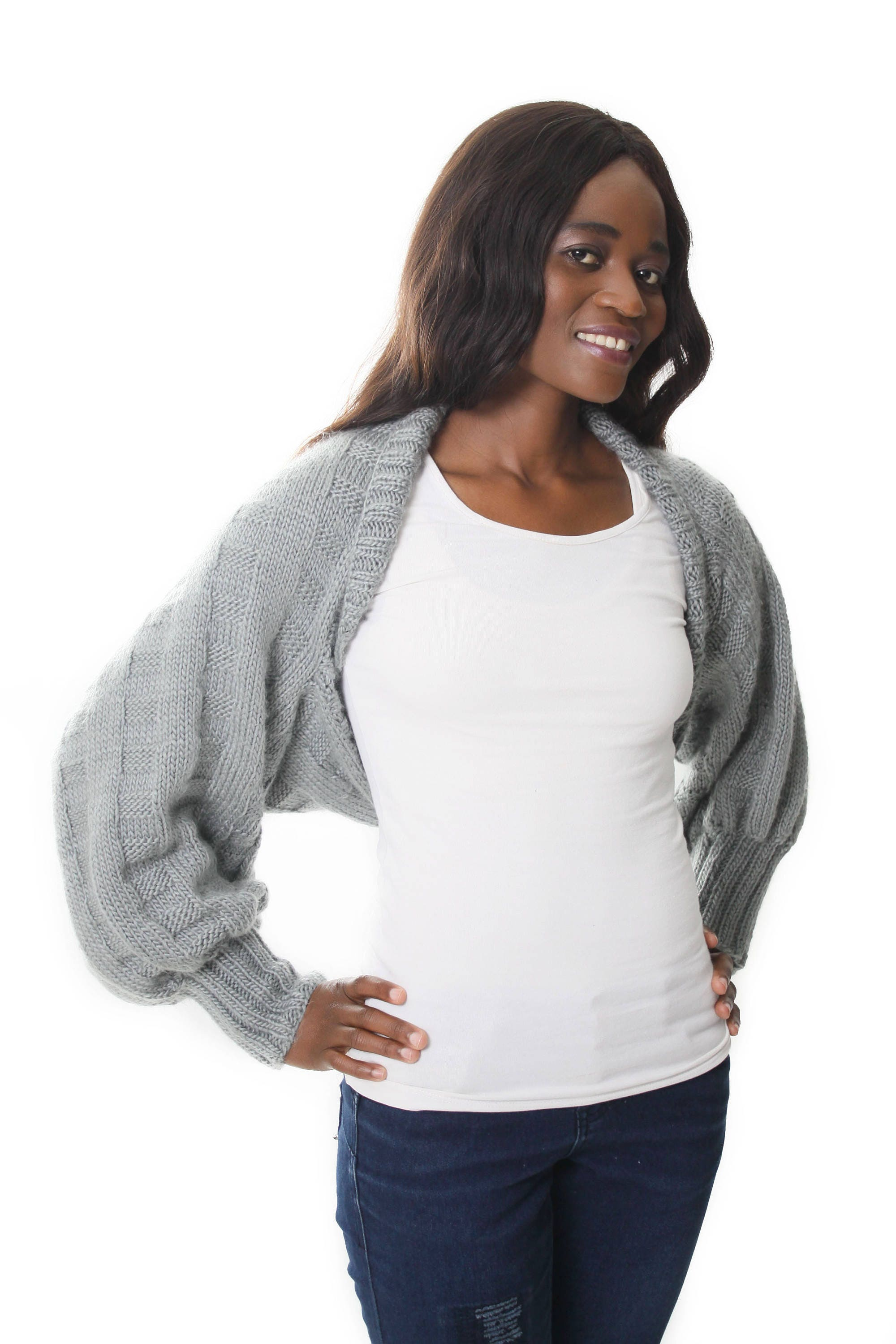 Honor Shrug Knitting Pattern - Long-Sleeved Bolero Knitting Pattern ...