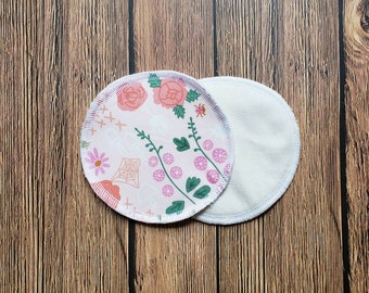 ONE pair of nursing pads washable reusable