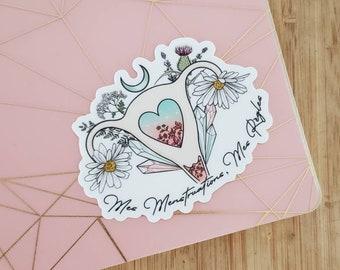 Vinyl sticker - My period, my rules fremch version