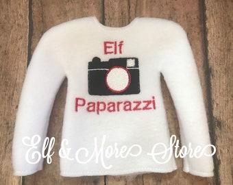 Custom Christmas Elf Baseball Pitcher Sweater Shirt Photo Prop Clothes