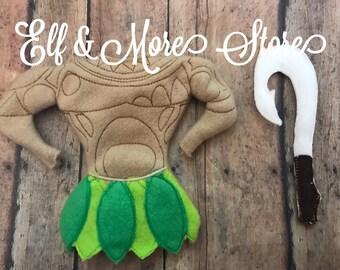 Custom Christmas Elf Hawaiian Costume Sword Photo Prop Clothes