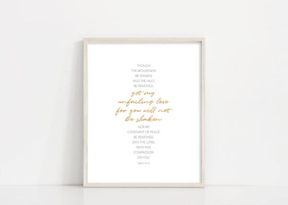 Isaiah 54:10 Printable Art - Isaiah Scripture Bible Verse Wall Art - 8x10 Digital Print -  INSTANT DOWNLOAD