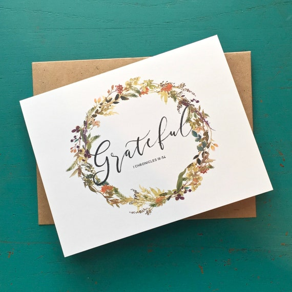 Grateful Cards - Thank You Cards - Stationery Set of 8 - Blank Inside Cards - Notecards - Encouragement Card Set - Blank Encouragement Cards