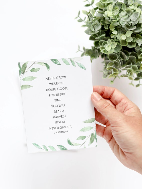 Encouraging Notecards, Galatians 6:9, Stationery Set, Thank You Cards, Blank Inside, Encouragement Card Set, Just Because Cards