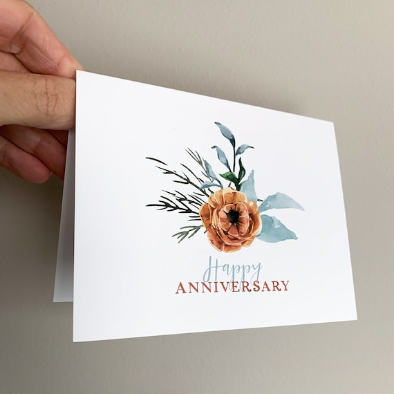 Happy Anniversary Card, Anniversary Cards, Note cards, Modern Anniversary