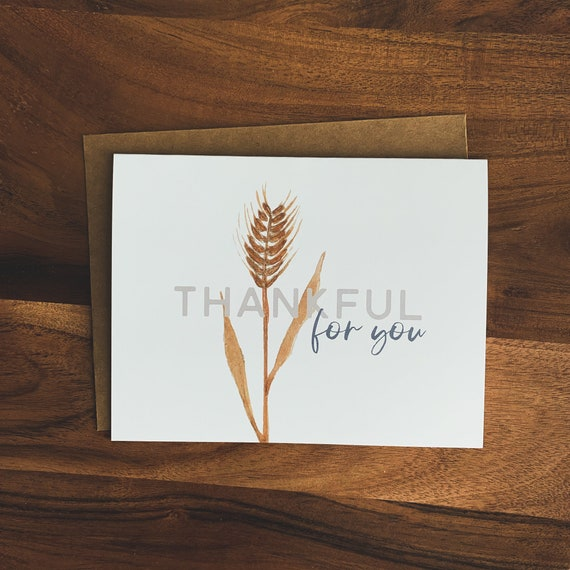 Thank You Cards, Thanksgiving Cards, Thankful For You Notecard Set, Thank You Stationery, Blank Inside Cards, Christmas gifts, Encouragement