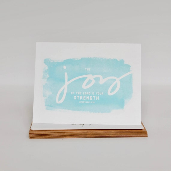Thank You Cards - Joy Cards - Nehemiah 8 10 Cards Stationery Set of 8 - Blank Inside Cards - Notecards - Encouragement Card Set
